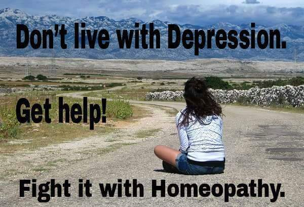 Fight depression with homeopathy!