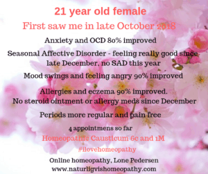 21 year old female anxiety, ocd, allergies, eczema, sad